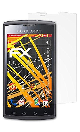 Samsung Giorgio Armani Galaxy S (GT-i9010) Displayschutzfolie - 3 x atFoliX FX-Antireflex-HD hochauflösende entspiegelnde Schutzfolie Folie