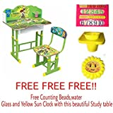 Furniture First American Green Ben-10 Graphics And Fully Laminated Kids Study Table & Chair Set For Kids Age Between 3-10 Years, Imported By FURNITURE FIRST