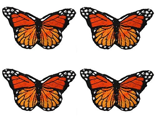 4 Stück Stoff Applique Geschenke Taschen Nähen auf Eisen Patches für Kleidung Motiv Kleidungsstück Sewing Craft Decor Schmetterling Appliques Patch Tuch Paste personalisierte Mode -