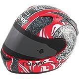 Römer RR50212_XXL Mandala Motorradhelm Größe XXL Schwarz / Rot