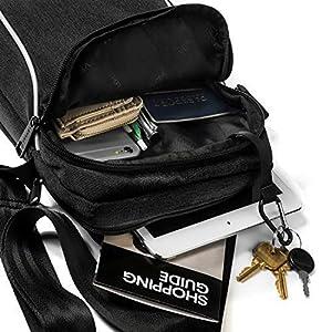 51DWuKcsYFL. SS300  - Verran Bandolera Hombre Vintage Bolso Hombre Bandolera Resistente al Agua y los Arañazos con Soporte de iPad y Tableta…
