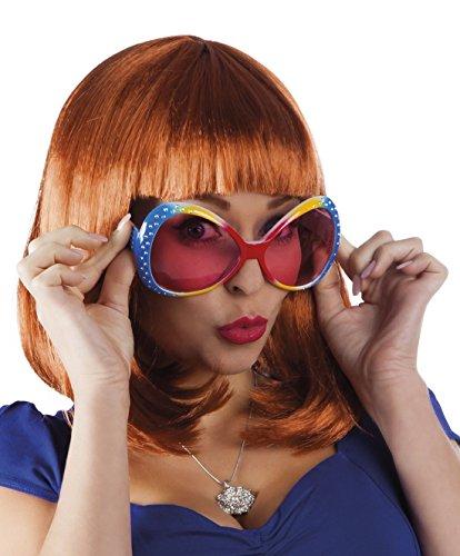 erdbeerclown - Oversize Flower Hippie Brille Sonnenbrille Kostüm, (Jahre Einfach Kostüm Achtziger)