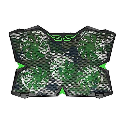 LMDC Laptop Cooling Pad 12-17 Zoll Cooler Pad Chill Mat Leise Lüfter mit verstellbarem Laptop-Ständer Notebook-Halterungen LED-Leuchten und 2 USB-Ports (Color : Camouflage) -