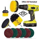 QYonline Lot de 3 brosses Drill Brush + 7 éponges à récurer Kit de nettoyage pour...