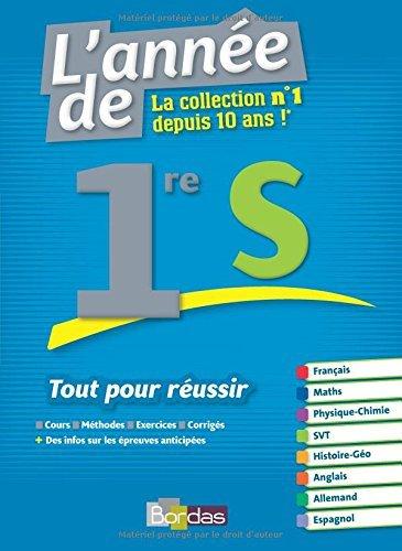 L'Année De La 1re S - Tout Pour Réussir By Collectif 2016-05-02