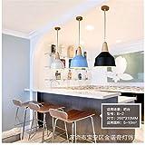 Moderno e semplice personalità creative cafe bar lampadario in legno massiccio bancone bar teahouse lampada/26x31cm, bianco