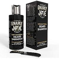 Gnarly Joe Champú 100% Natural para el Cuidado de la Barba | Contiene Jabón Negro Africano, Aceite de Argán, Manteca.