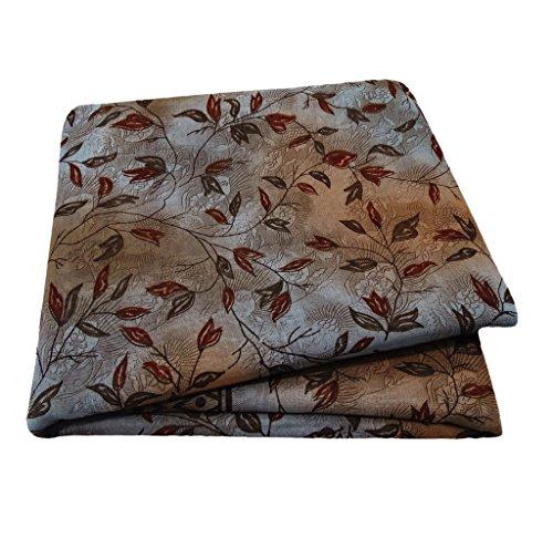 Silk-blend-vorhänge (Vintage Style Sari Blatt Gedruckt Vorhang Drape Kleid Textil Stoff Silk Blend Indian Saree)