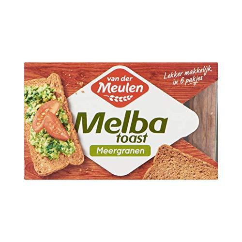 Mehrkorn-Cracker | Van der Meulen | Melba Toast Meerganen | Gesamtgewicht 120 Gramm