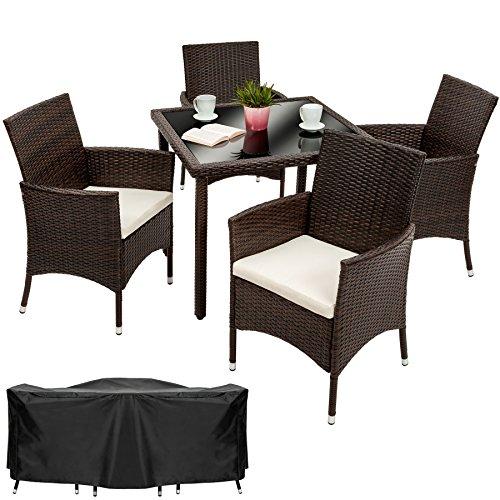 Opiniones tectake poly ratan muebles de jardin conjunto for Muebles 1 click opiniones