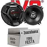 Ford Fiesta 3 + 4 + 5 Heck - JVC CS-DR520 - 13cm 2-Wege Koax-Lautsprecher - Einbauset