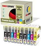 Pack 10 XL TONER EXPERTE® Compatibles LC985 Cartouches d'encre pour Brother DCP-J125, DCP-J140W, DCP-J315W, DCP-J515W, MFC-J220, MFC-J265W, MFC-J410, MFC-J415W (4 Noir, 2 Cyan, 2 Magenta, 2 Jaune)