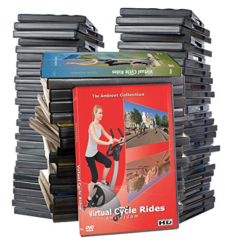 Virtual Cycle Rides Supersale Collection - 41 Disc Set Limited Edition DVD - Scenic Route Videos for Indoor Jog, Walk, Run, Cycling Workouts