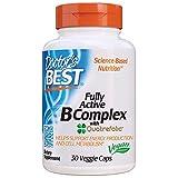 Doctor's Best | Complesso pieno attivo B | 30 capsule vegane | senza glutine | senza soia