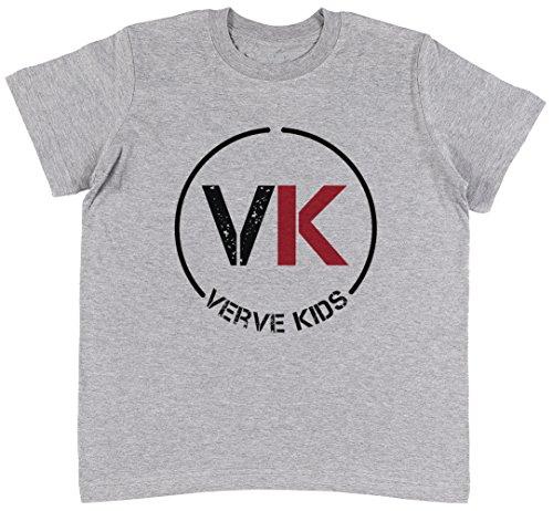 Vk Verve Kids Unisex Kinder Grau T-Shirt Jungen Mädchen Größe M | Unisex Kids Grey T-Shirt Size M