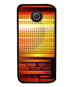 FUSON Designer Back Case Cover for Motorola Moto E2 :: Motorola Moto E Dual SIM (2nd Gen) :: Motorola Moto E 2nd Gen 3G XT1506 :: Motorola Moto E 2nd Gen 4G XT1521 (Blur Music Background With Retro Radio Antique )