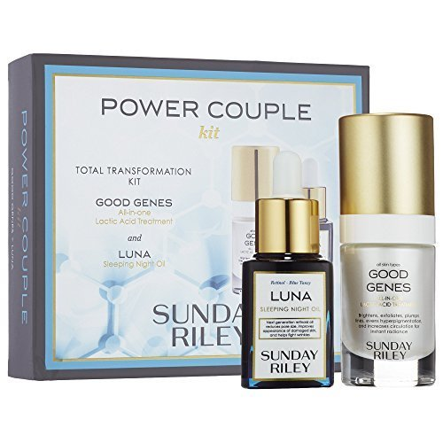Sunday Riley Power pareja total transformación Kit with Good Genes and...