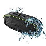 YMXLJJ Portable Lautsprecher IPX6 Wasserdichte Unterstützung Wireless Stereo 5W * 2 Dual Drive Erhöhen Bass 14 Stunden Wiedergabezeit Anwendbar Für Apple, Android Bluetooth 4.1,Green