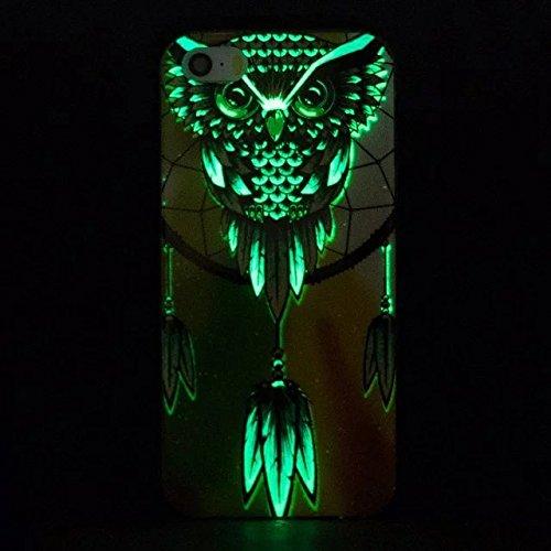 [iPhone 7] Silicone Coque,Souple TPU Coque Housse de Téléphone pour iPhone 7,Etsue Peinture Style Ultra Mince Souple TPU Silicone Lumineux Fluorescents Dans Le Case Cover pour iPhone 7