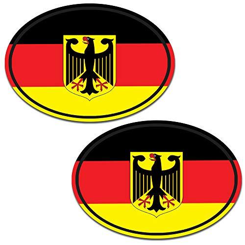 2 Stück Vinyl Deutschland Germany Flagge Aufkleber Autoaufkleber Stickers Auto Moto Motorrad Fahrrad Helm Fenster Tuning B 192
