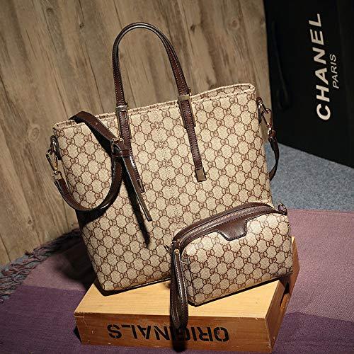 LFGCL Taschen women2019 Neue europäische und amerikanische Mode Handtaschen klassischen Druck Handtaschen Trend wildes Kind Mutter Tasche einfache Umhängetasche, schwarz