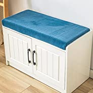 CoCowind Japanese Style Bench Cushions,Non Slip Bottom Padded Tufted Hallway Cushions,Indoor Foam Outdoor Rect