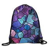 gthytjhv Apple Hedgehog Drawstring Backpack Sport Sackpack for Men Women School Travel Bag Abstract Cubes Lightweight Unique 16.9x14.2