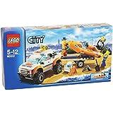 Lego City - 60012 - Jeu de Construction - Le Transporteur du Bateau du Garde - Côtes