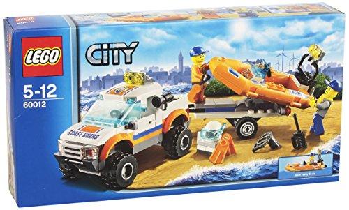 LEGO City Coast Guard 60012 - Fuoristrada e Gommone di Salvataggio
