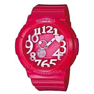 Reloj Casio Baby-G - digital de mujer de cuarzo con correa de resina rosa (alarma, cronómetro, luz) - sumergible a 100 metros de Casio