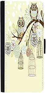 Snoogg Owl Winter Floral Background Owls Out Of Their Cages Concept Vector De...