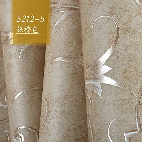3DTridimensionale di carving continentale semplice panno non tessuto carta da parati camera da letto soggiorno TV parete sullo sfondo della carta,Marrone argento - Anatra Carving