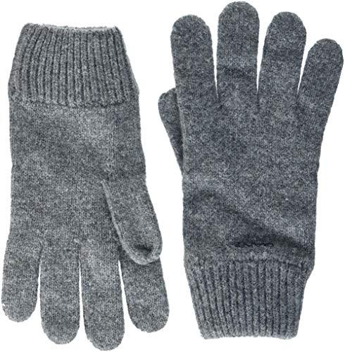 GANT Herren D1. KNITTED WOOL GLOVES Handschuhe, Grau (Dark Grey Melange 92), One Size (Herstellergröße: Oversize)