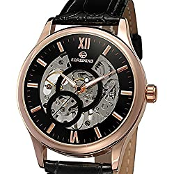 Casual Watches leather Strap Luxurious Men's Mechanical Fashion Style Watch