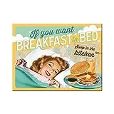 Nostalgic-Art 14339 Say IT 50's - Breakfast in Bed, Magnet 8x6 cm