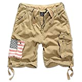 Brandit Urban Legend Shorts stars+stripes beige M