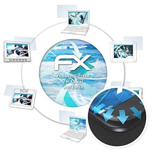 für Alcatel A30 Fierce Folie - 3 x FX-Curved-Clear flexible Displayschutzfolie für gewölbte Displays (Alcatel Handys Metro Pcs)