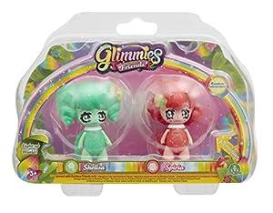 Glimmies-GLN012 -2Rainbow Friends de 6cm-Modelos Shelisa y Spiria