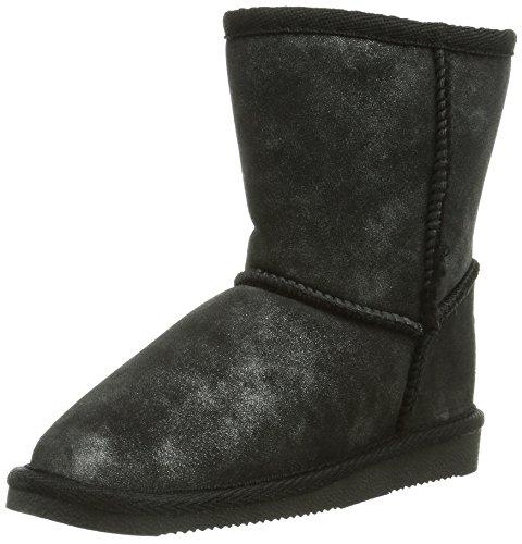 Canadians 466 684, Boots fille Noir (Black/Silver 096)