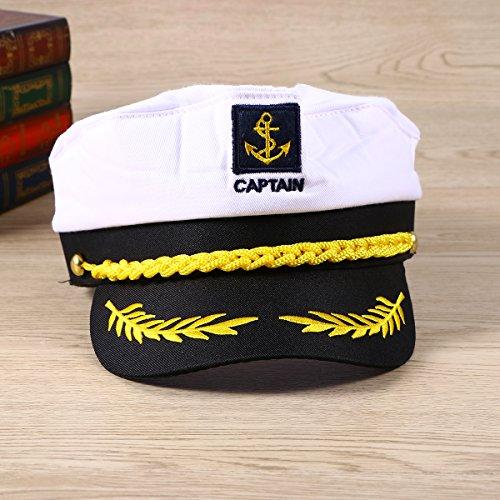... Imagen de healifty yate adulto capitán capitán barco marinero capitán  traje sombrero marino almirante marino blanco f73a4e876a8