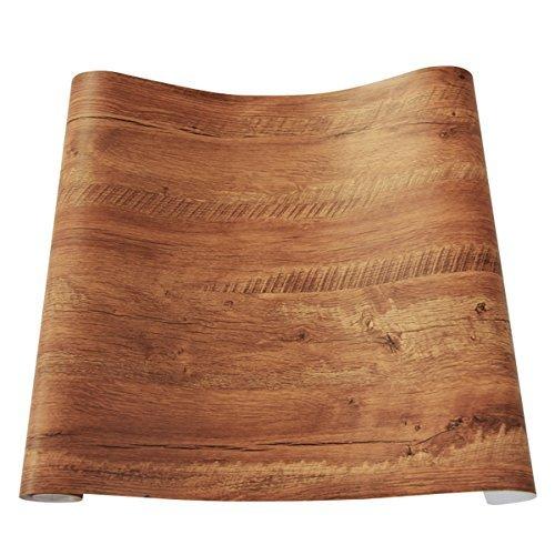 Decorativa sintética grano de madera papel de contacto vinilo autoadhesivo para maletero para cuarto de baño gabinetes de cocina estantes de cajón mesa artes y manualidades para 60 x 300cm