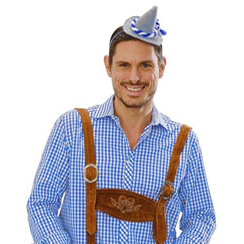 Trachten Kopfbedeckung (Oktoberfest Hut Tiroler Partyhut am Haarreif Wiesn Trachten Kopfbedeckung Bayern Tirolerhut Bier Bayernhut Seppl)