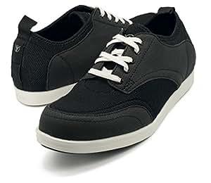 BackJoy Men's Standright Bliss Lace Shoes, Black/White - X Large (8.5-9.5 UK/India)