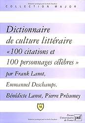 Dictionnaire de culture littéraire :