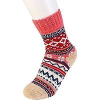 Rowentauk Unisex Sport Socken Winter Knitting Verdicken Warme Baumwolle Socken Retro Nationalen Stil Fußsocken