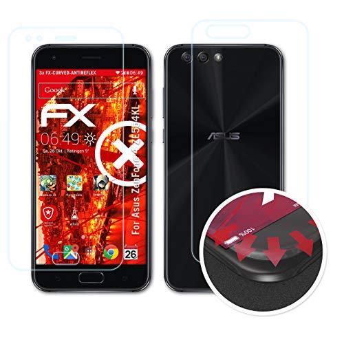atFolix Schutzfolie passend für Asus ZenFone 4 ZE554KL Folie, entspiegelnde & Flexible FX Bildschirmschutzfolie (3er Set)