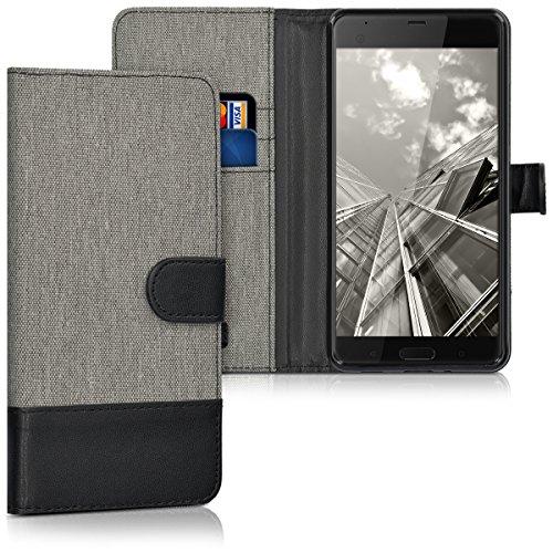 kwmobile HTC U Ultra Hülle - Kunstleder Wallet Case für HTC U Ultra mit Kartenfächern und Stand