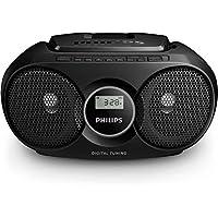 Philips AZ215B/12 - Radio portátil con CD (3 W, sintonizador digital), color negro