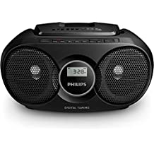 Philips AZ215B/12 - Radio portátil con CD (3 W, sintonizador digital), color negro