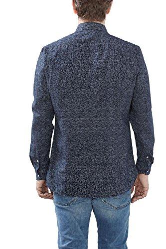 ESPRIT Herren Freizeithemd 027ee2f026 Blau (Navy 400)